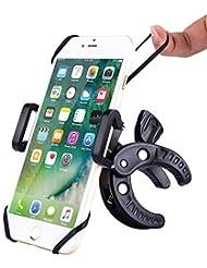Fahrrad Handyhalterung, iDudu Universal Verstellbar Fahrradhalterung Handyhalter für Smartphone wie iPhone 7/ 6, Samsung Galaxy S8/ S7 / S6 Edge , HUAWEI P9/ P10 usw und GPS