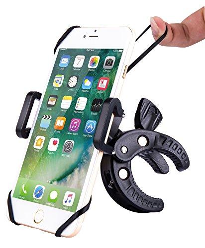 Fahrrad Handyhalterung, iDudu Universal Verstellbar Fahrradhalterung Handyhalter für Smartphone wie iPhone 7/ 6, Samsung Galaxy S8/ S7 / S6 Edge , HUAWEI P9/ P10 usw und GPS (Schwarz, Size A)