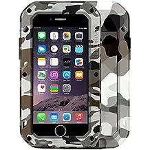 Protege tu iPhone, LOVE MEI para iPhone 7 Camuflaje de la ciudad Patrones Profesional y poderoso A prueba de polvo A prueba de choque Anti-deslizante Metal Protective Case Para el teléfono celular de Iphone. ( SKU : Ip7g2140c )