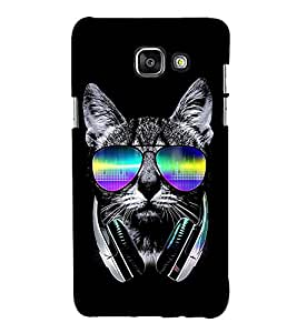 Cool Cat 3D Hard Polycarbonate Designer Back Case Cover for Samsung Galaxy A3 (2016) :: Samsung Galaxy A3 2016 Duos :: Samsung Galaxy A3 2016 A310F A310M A310Y :: Samsung Galaxy A3 A310 2016 Edition