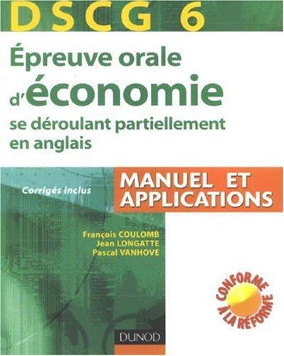 Epreuve orale d'économie se déroulant partiellement en anglais : DSCG 6