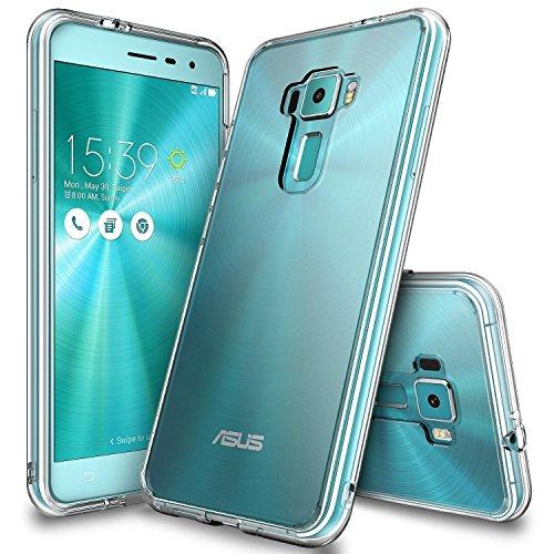 Zenfone 3 Hülle, Ringke FUSION kristallklarer PC TPU Dämpfer (Fall geschützt/Schock Absorbtions-Technologie) für das ASUS Zenfone 3 - Clear/Transparent
