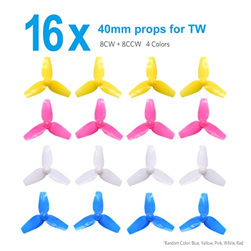BETAFPV 4sets 3-Blade 40mm Props 1.0mm Shaft FPV Tri-Blade Propellers for 720 Motor Inductrix FPV Plus Tiny 7X Mini FPV Racing Drones Multirotors Quadcopters -