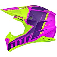 MT - Casco Cross SYNCHRONY SPEC GLOSS Fucsia y Verde Flúor ...