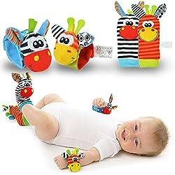 Calcetines de sonajero - Calcetines de bebé - New Born Baby Socks Pulseras Sonajero SONIDOS Rattling Sensorial Toy Infant Child
