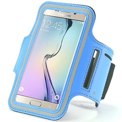 Blau Outdoor Running Gym Sport Armband Fall für iPhone 7/6S/Samsung Galaxy S7/S6/S6Edge/A3J3/LG K4/HTC 10/Motorola Moto E 4G/BLU Win 4,5/BLU Win HD 12,7cm 4G (Iphone Für T-mobile)