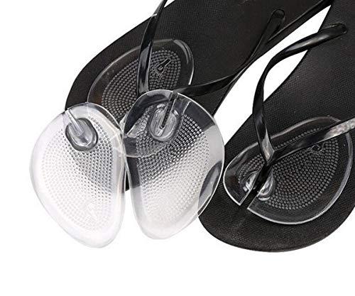 2 Paar Transparent Gel Flip Flops Vorfußkissen Thong Sandale Zehenschutz Anti-Rutsch-Selbstklebende Pads Schmerzlinderung Einlegesohlen Schuhe Einsätze für Frauen Mädchen -