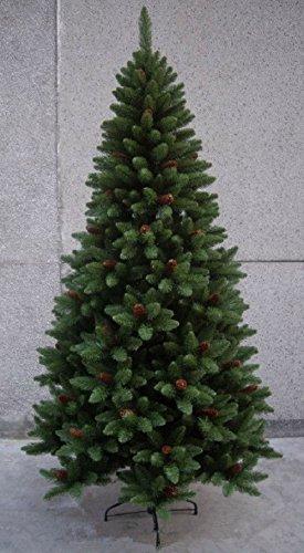 Albero alberi di natale pvc sintetico con pigne artificiale rami 689 h cm 180
