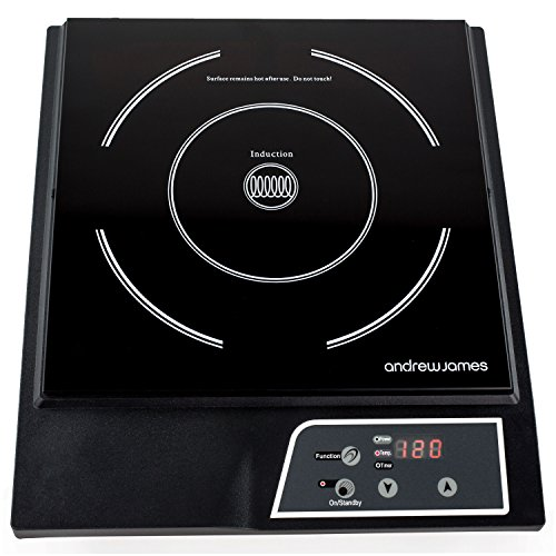 Andrew James Electric Induction Hob | 20001 Portable Digital Hot Plate with 13amp Plug