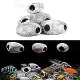 Glodenbridge - Rocas decorativas para acuario, piedra artificial, decoración de acuario, decoración de rock, ideal para peces