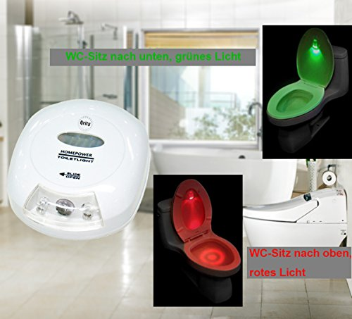 Toilette Nachtlicht, LED Lichtempfindliches Nachtlicht mit Lichtsensor, Batteriebetriebenes LED-Nachtlicht mit Bewegungssensor