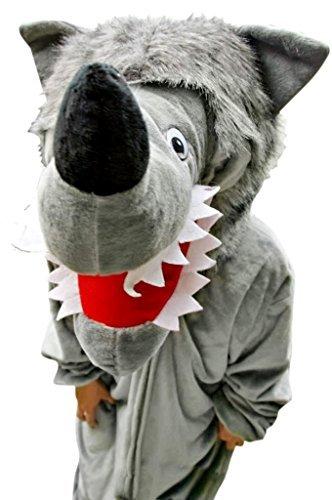 Wolf-Kostüm, F49 Gr. XL, Für hochgewachsene Männer und Frauen, Wolfs-Kostüme Wölfe Kostüme Wolf-Faschingskostüm, Fasching Karneval, Faschings-Kostüme, Geburtstags-Geschenk - Frau Trägt Mann Kostüm