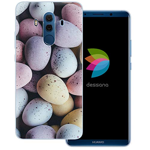 dessana Candy Süßigkeiten Transparente Schutzhülle Handy Case Cover Tasche für Huawei Mate 10 Pro Oster Eier