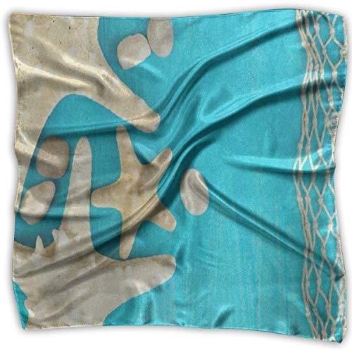 Rghkjlp Women's Silk Scarf Sunrise Rome Colosseum Printed Square Scarf Sunscreen Shawls 905 Bluetooth