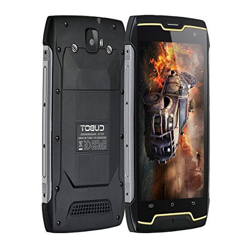 Robuste Handy - Cubot Kingkong IP68 Smartphone 3G (12,67 cm (5 Zoll) Touch-Display, 4400mAh Akku, 16 GB interner Speicher und 2 GB RAM, Dual-Micro SIM, Android 7,0 Nougat) Schwarz -