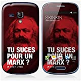 Sticker Samsung Galaxy S3 mini de chez Skinkin - Design original : Marx par Fists et Lettres
