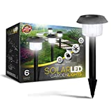 Signature Garden Ultra-Bright 6 Lumen Solar Garden Lights - No Wire Installation, All-Weather/Water-Resistant! (Six Pack)