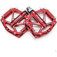 willyn alluminio pedali MTB per bici/mountain bike Pedal/BMX Pedal/cuscinetti a sfera + asse Cr-Mo, JT05-R-D - Asse Lato Cuscinetto