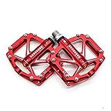 Willyn Aluminium Fahrrad Pedale MTB / Mountainbike Pedal / BMX Pedal / Kugellager + Cr-Mo Achse (JT05-R-D)