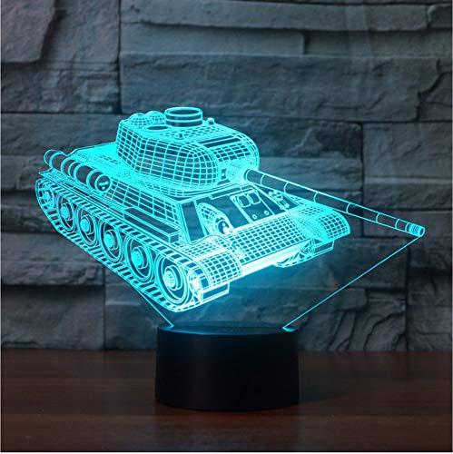 Tank Sportwagen 3D Tischlampen Für Wohnzimmer Traktor Bagger Bulldozer Fahrzeug Anhänger Lkw Beleuchtung 3D Tisch Schreibtischlampe -