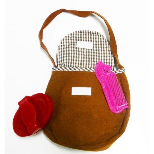 Happy People 58393 Pferde Accessoire Tasche mit Striegel und Bürste passend Pferden