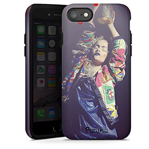 Apple iPhone X Silikon Hülle Case Schutzhülle Frau Jacke Tanzen Tough Case glänzend