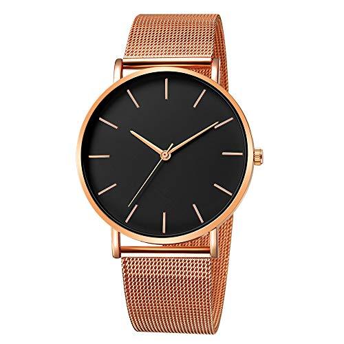 Quartz Uhren für Herren, Skxinn Männer Armbanduhr Zifferblatt Analog Business Minimalistische Quartz Armbanduhren mit Edelstahl Band Ausverkauf(F,One Size)