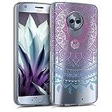 kwmobile Coque pour Motorola Moto X4 – En silicone TPU coque protectrice pour portables – Étui translucide en bleu fuchsia transparent