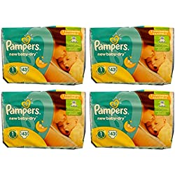 172 Pampers New Baby-Dry Windeln , Gr. 1, 2-5 Kg, New Born