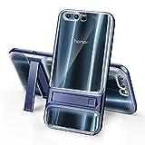 Huawei Honor 9 coque,SMTR Double Couche Cover Antichoc Case Résistant aux chocs Goutte à l'épreuve Cas de Téléphone Portable Avec Béquille Etui Housse pour Huawei Honor 9 smartphone(transparent,bleu)