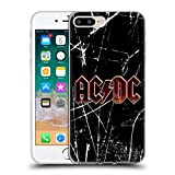 Head Case Designs Offizielle AC/DC ACDC Rot Grunge Logo Soft Gel Hülle für iPhone 7 Plus/iPhone 8 Plus