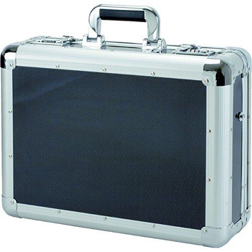 Alumaxx Laptop-Attachékoffer C-1, aus Aluminium, ca. 45,5 x 35 x 15,5 cm, in carbon-look Laptop Rollkoffer, 12.16 L, silber-carbon
