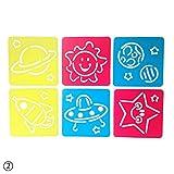 rungao 6pcs DIY Kunststoff Bild Zeichnen Vorlage Schablonen Herrscher Malen für Kinder Geschenk 02