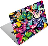 Pretty Butterflies Fashion Netbook Laptop Skin Sticker Reusable Protector Cover Case for 11.6-15.6 Inch Apple