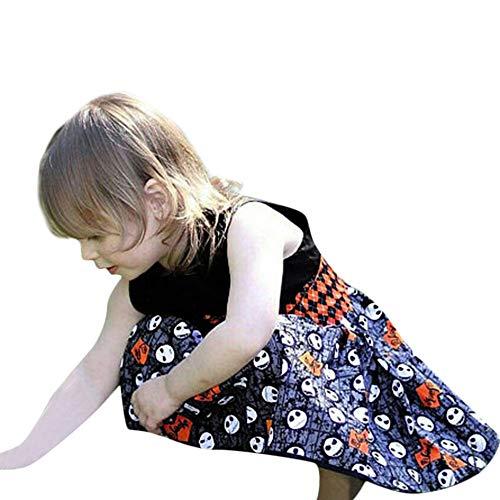 Baby Kinder Mädchen Ärmellos Karikatur Kleid Prinzessin Kostüm Kinder Glanz Kleid Halloween...