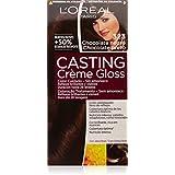 L'Oréal Casting Crème Gloss Color cuidado, Sin amoníaco, Tono: 323 Chocolate Negro - 600 ml