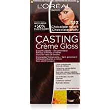 L'Oréal Casting Crème Gloss Color cuidado, Sin amoníaco, Tono: 323 Chocolate Negro - 600 ml