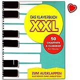 Das Klavierbuch XXL - 50 Charthits und Klassiker - Zum Ausklappen - Notenbuch mit bunter herzförmiger Notenklammer
