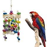 LCY-YCY Bird Toys Pappagalli in Piedi Stick morsi Masticare scalette in Legno Swinging Building Blocks Pet Toys