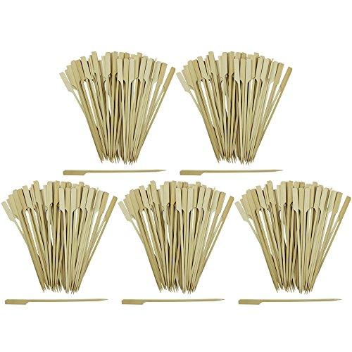 Com-Four 250x surface amuse-bouches brochettes avec manche en bambou, env. 20cm