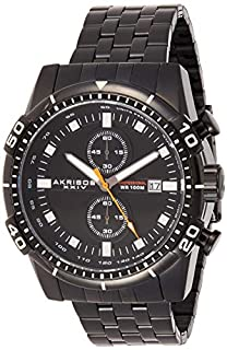 Akribos XXIV Men's Chronograph Radiant Sunburst Dial Watch - 2 Subdials with Date Window Luminescent on Stainless Steel Bracelet Watch - AK852 (B013GEJIWC) | Amazon price tracker / tracking, Amazon price history charts, Amazon price watches, Amazon price drop alerts