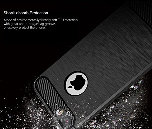 Custodia iPhone 6S / 6 Nero , ivencase Lusso Cover Schlank TPU Silicone Case Custodia Shock-Absorption Bumper e Anti-Scratch Back per iPhone 6S / 6 4.7 darkblue
