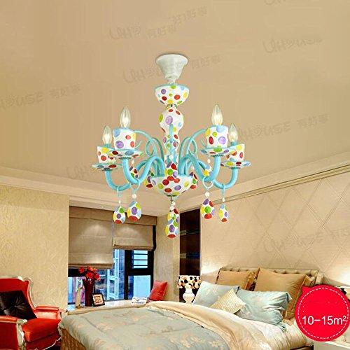 Bunte Kinderzimmer LED Augenschutz Kronleuchter Kreative Persönlichkeit Kunst Mädchen Schlafzimmer Lampe (weiß, warmes Licht) ( farbe : Warm light-LED5W ) -