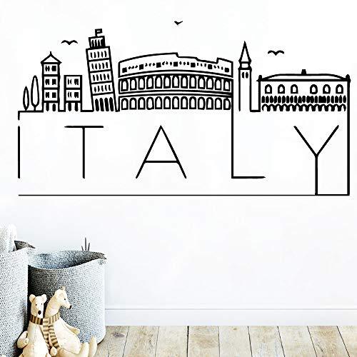 zhuziji DIY Art Italien Karte wandaufkleber wohnkultur zubehör Vinyl Aufkleber Dekoration Aufkleber wandbilder vinilo decorativo muur 42 cm x 80 cm