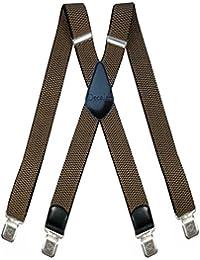 50MM 35MM Herren Hosenträger mit 4 Clips extra Breit X-Form Hosen starken Versch