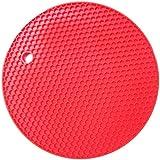 Kuke Salvamantel Individual de Silicona Resistente al Calor sin BPA (Rojo)