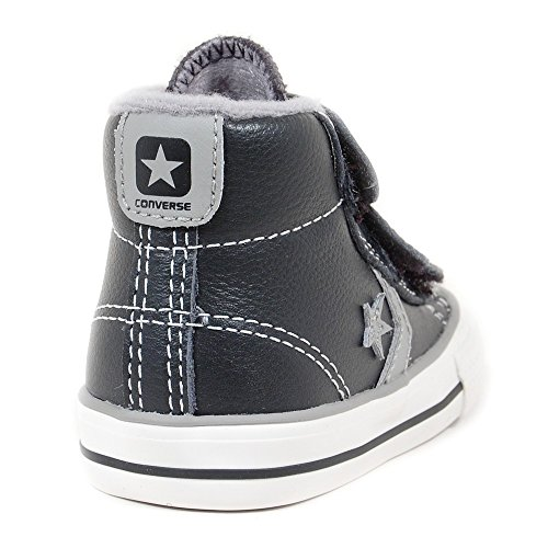 Converse  Star Player 3V Leather Mid,  Unisex-Kinder Sneaker Schwarz - Schwarz
