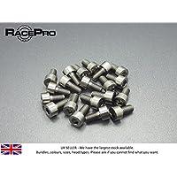 RacePro Regenbogen M4 x 15mm x 0.7mm 10x Titan Kegelkantschraube Allen