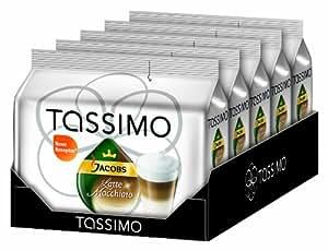 Tassimo Jacobs Krönung Latte Macchiato, 5er Pack (5 x 8 Portionen) - Auslaufartikel