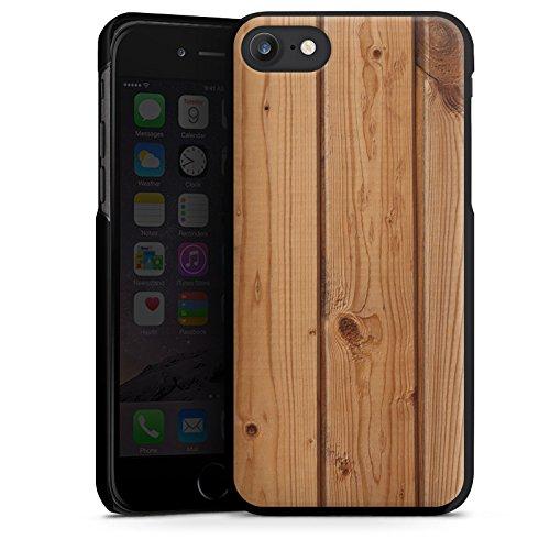 Apple iPhone X Silikon Hülle Case Schutzhülle Holz Look Planken Holzboden Hard Case schwarz